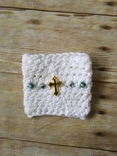 Load image into Gallery viewer, Rosary Cup Cozy - Glory Design Crochet