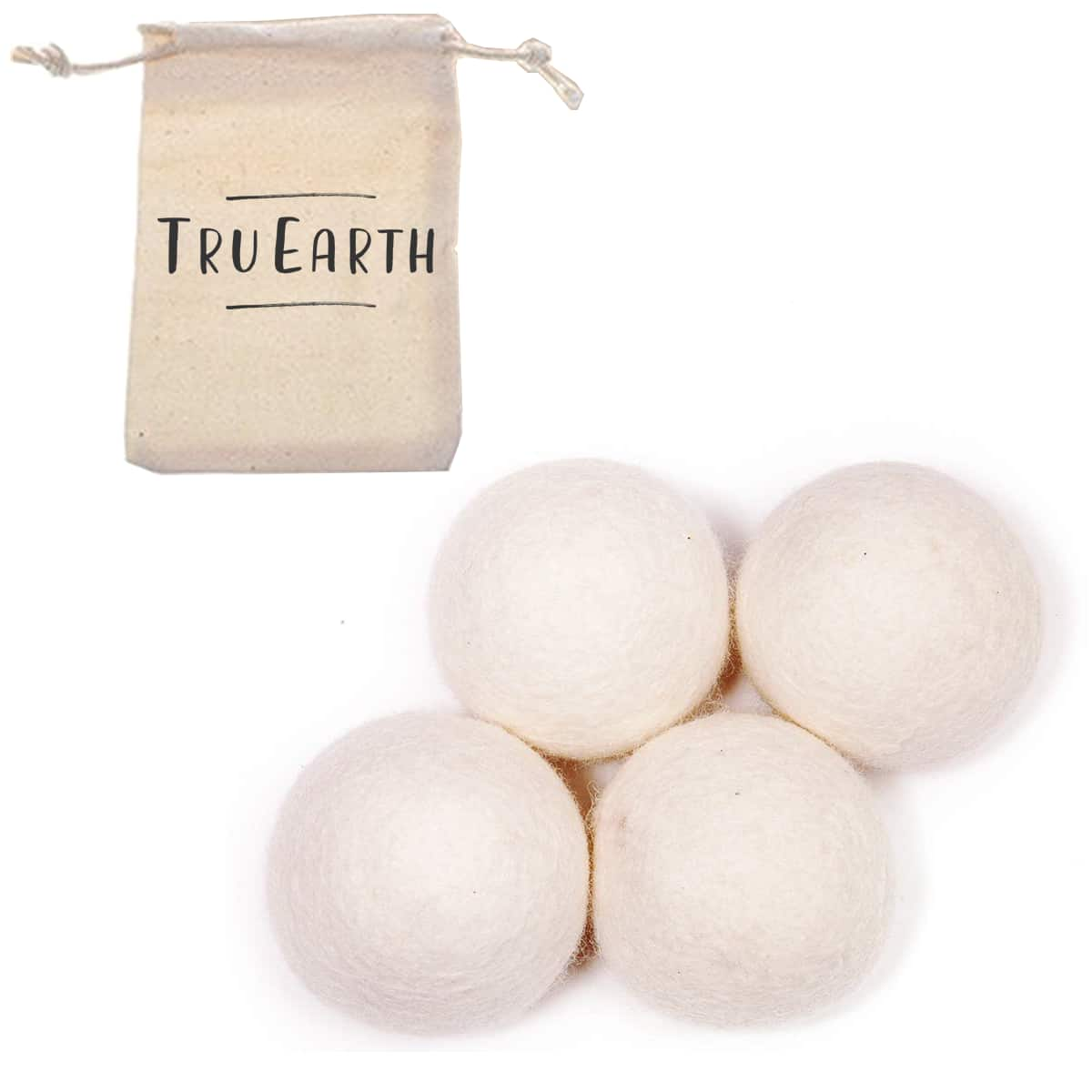 100% Premium Organic Wool Dryer Balls from Tru Earth for Zero Waste Laundry