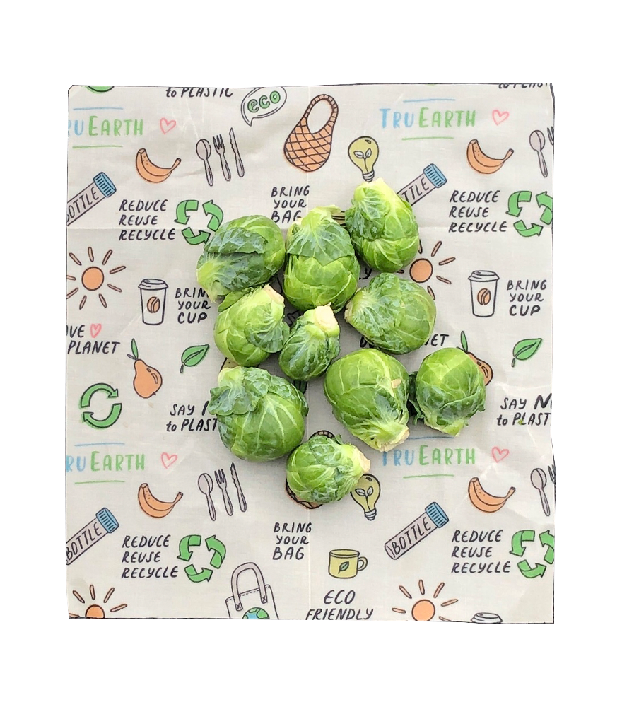 Reusable Beeswax Food Wraps from Tru Earth for Sustainable Zero-Waste Grocery Preservation