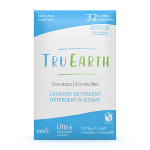 Tru Earth Eco-strips Laundry Detergent for Sustainable Zero-Waste Laundry; Fresh Linen Laundry Soap 32 Loads