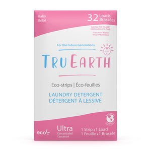 Tru Earth Eco-strips Laundry Detergent for Sustainable Zero-Waste Laundry; Baby Laundry Soap 32 Loads