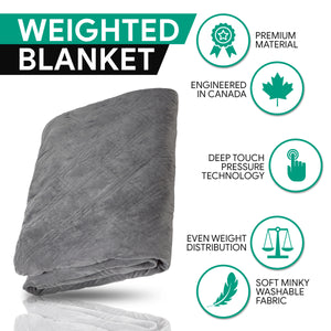 HUSH Classic Weighted Blanket - GREY