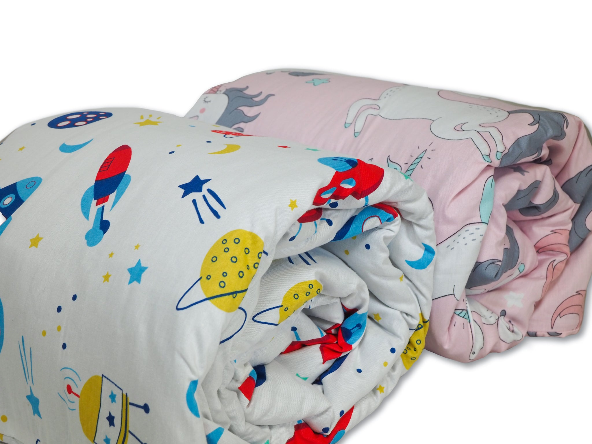 Hush. Kids - Children's Weighted Blanket: Spaceship, Unicorn, Iced 2.0, or Classic Charcoal Grey