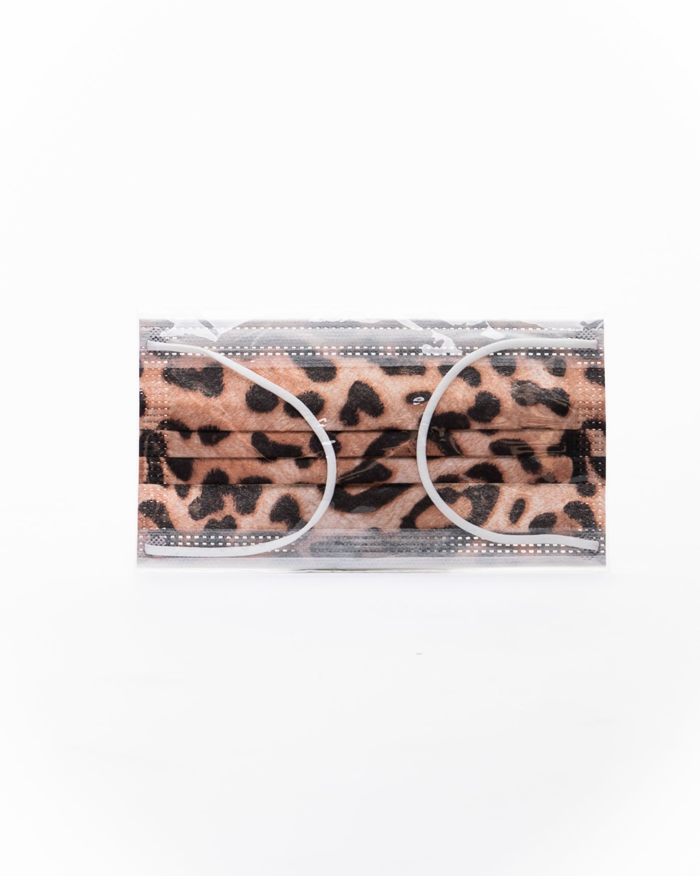mask, face mask, ppe, leopard print single use mask