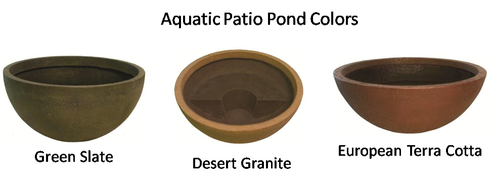 Aquatic Patio Pond Colors