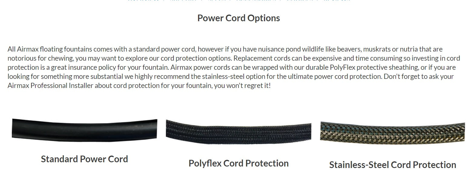 Airmax Power Cord Options