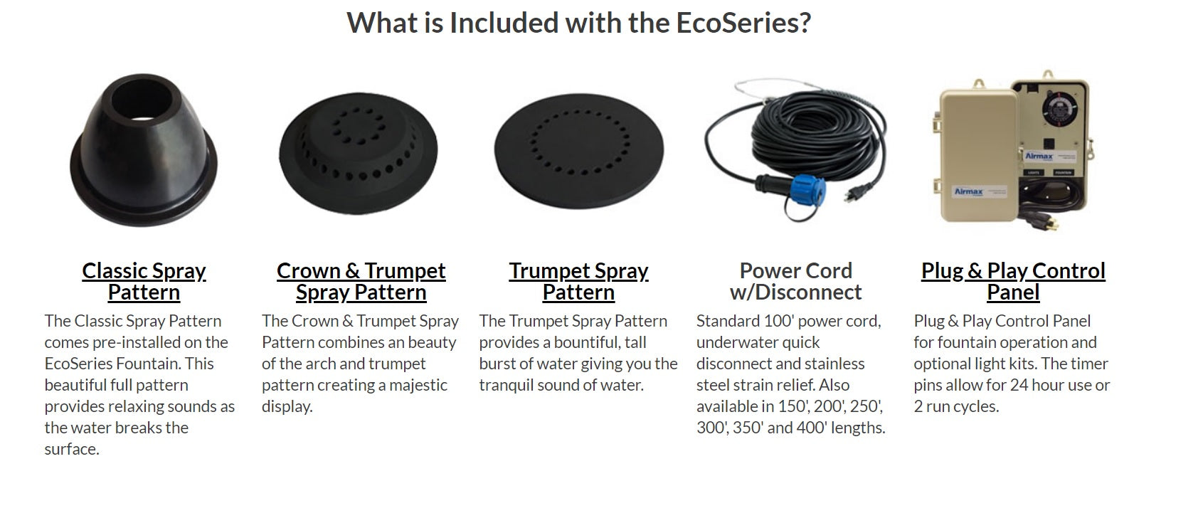EcoSeries Included Items