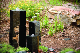 3 Semi-Polished Stone Basalt Columns