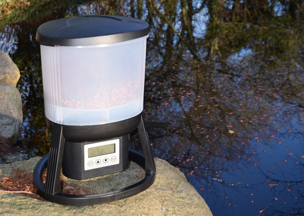 Evolution Aqua EvoFeed Automatic Fish Feeder- Rechargeable Lithium Battery