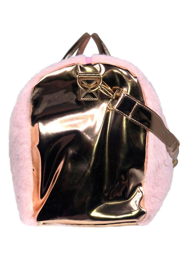 FUR WEEKENDER - PINK/ROSE GOLD