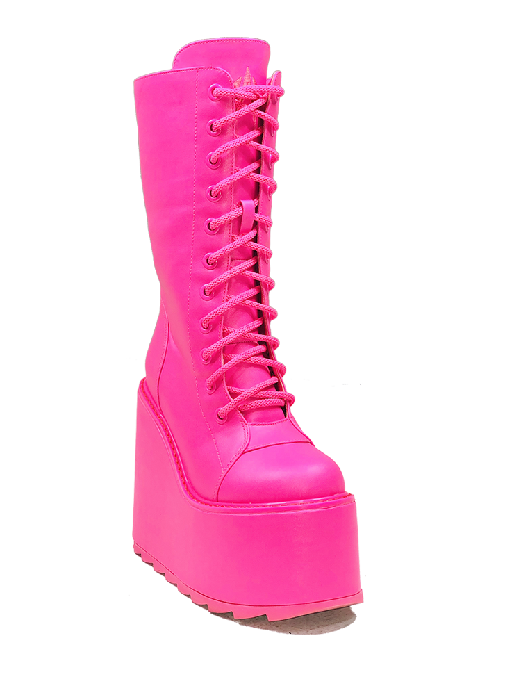 DUNE LACE UP - NEON PINK [PRESALE: SHIPS MID JUNE]