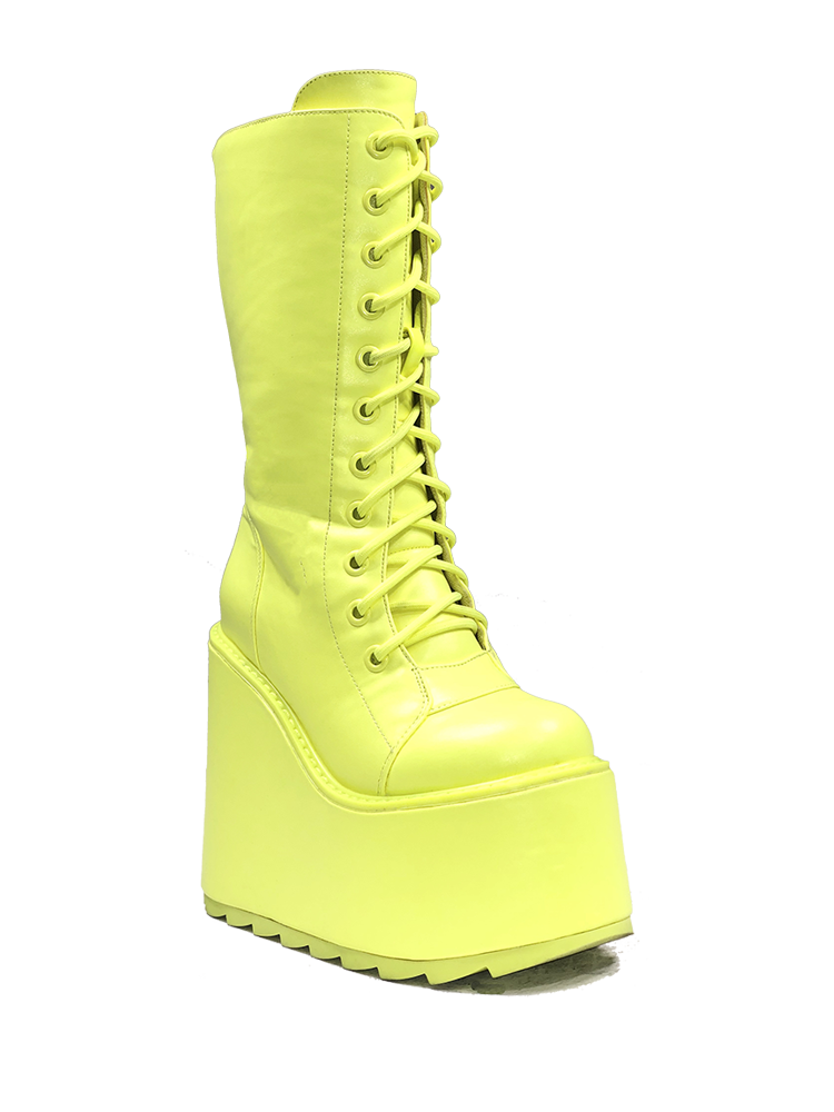DUNE LACE UP - NEON YELLOW [PRESALE: SHIPS MID JUNE]