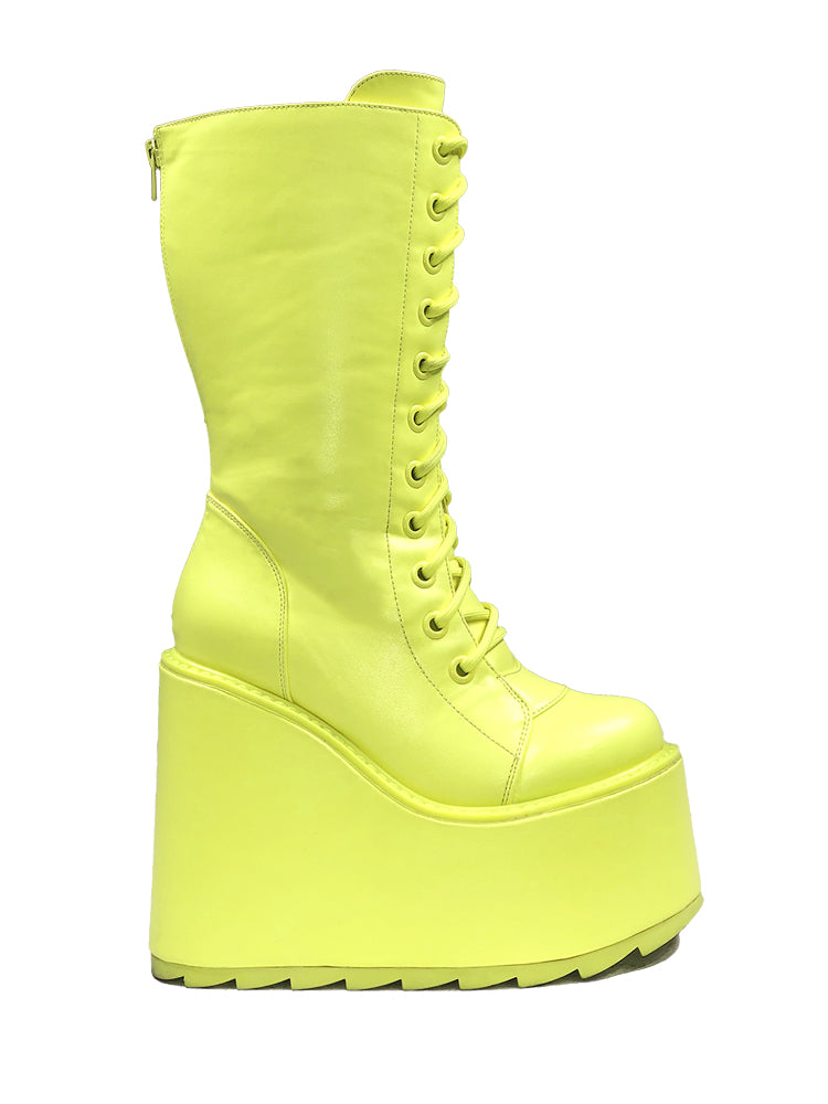 DUNE LACE UP - NEON YELLOW