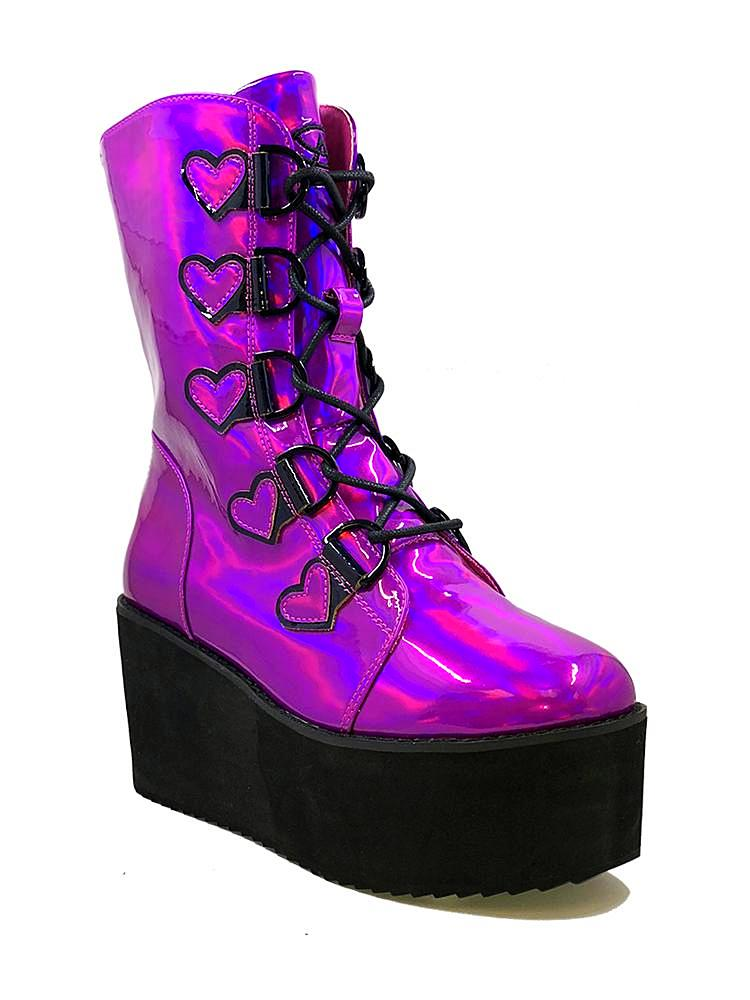 STOMP HEART - PURPLE HOLOGRAM