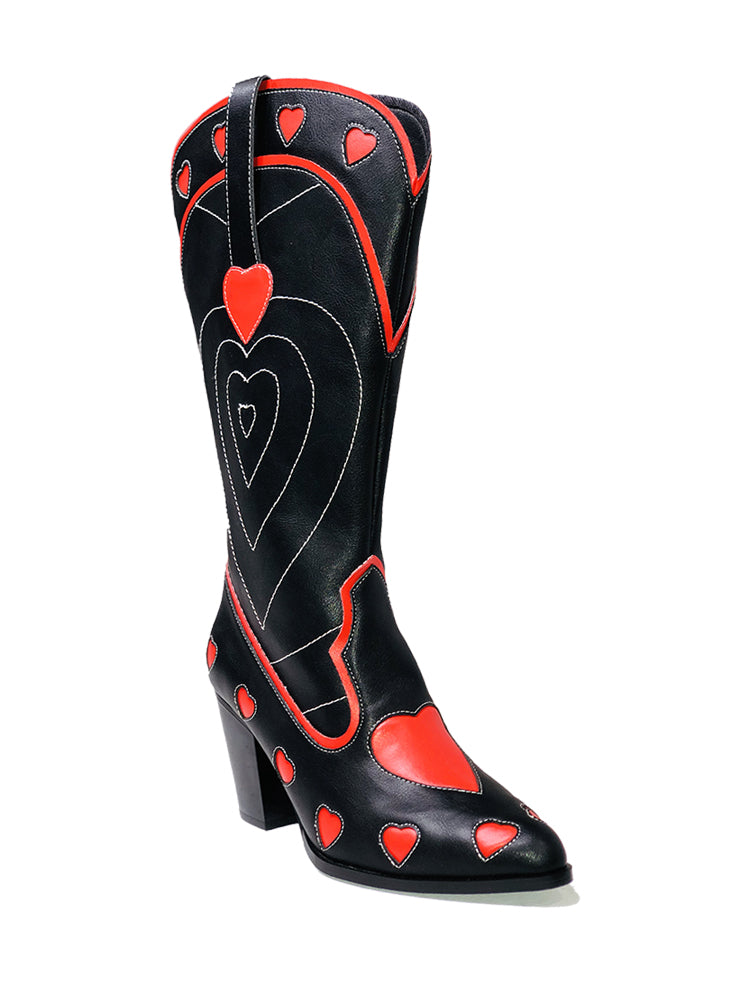 SPACE COWGIRL HEART - BLACK RED