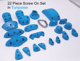 22 Piece Screw On Climbing Hold Set