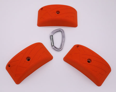Ribbon Pinch Pack, 3 Bolt On Climbing Holds