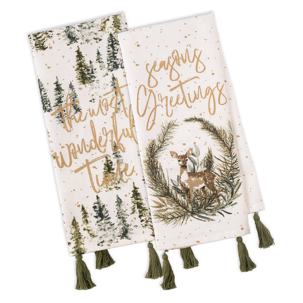 Wonderland Forest Embellished Towel