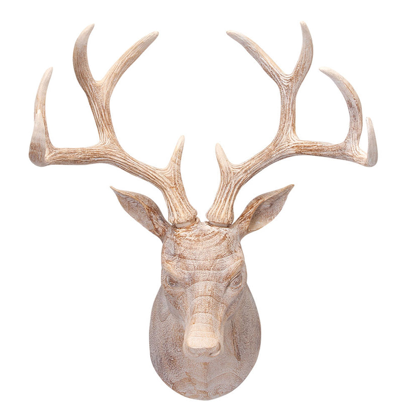 Whitewashed Deer Bust (5609349480605)