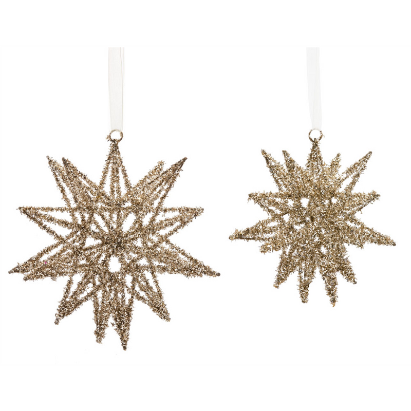 Wired Tinsel 3D Stars (S/2)