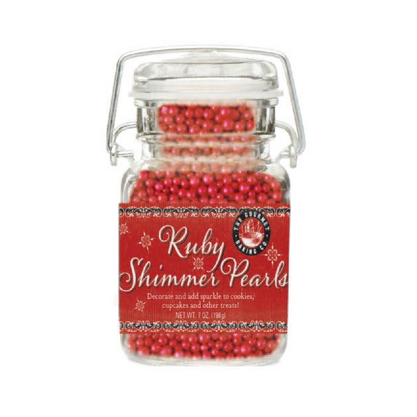Christmas Ruby Shimmer Pearls