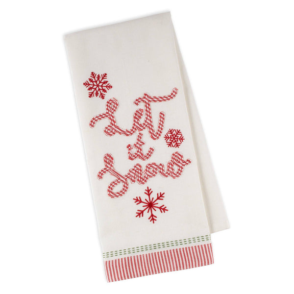 Let It Snow Embellished Towel