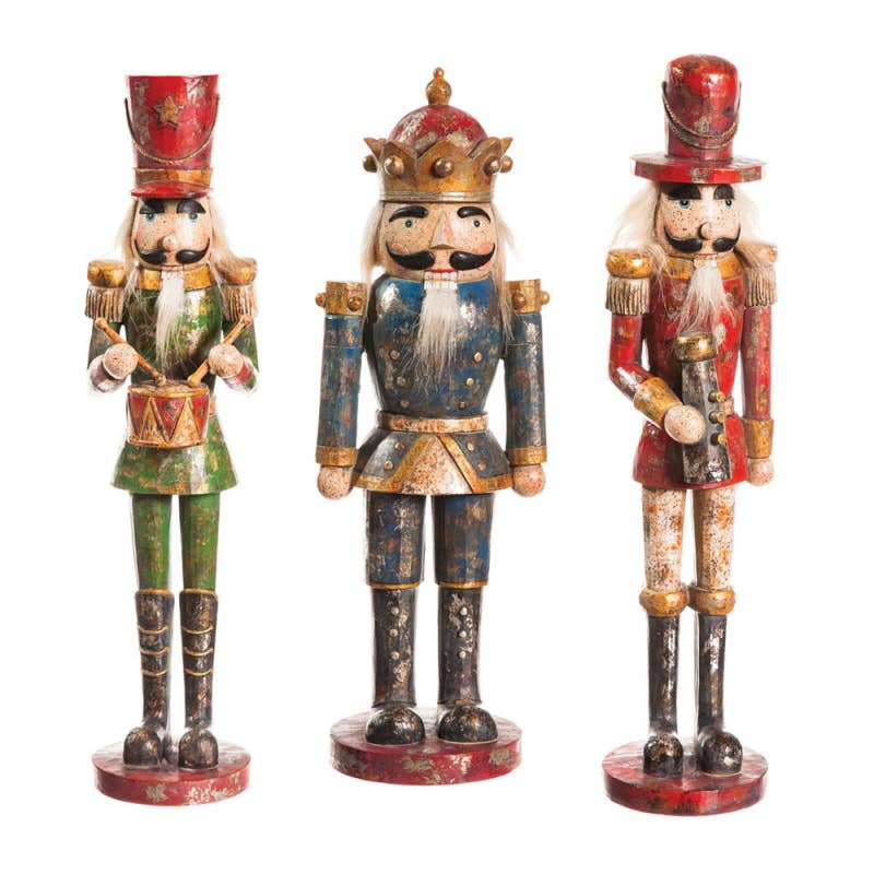 Regal Distressed Nutcracker (S/3)