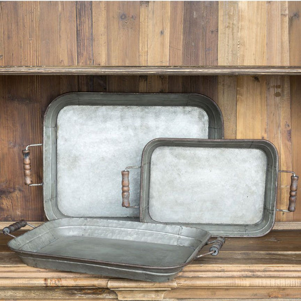 FarmHouse Metal Trays (Set of 3)