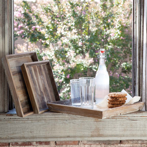 Rustic Wooden Trays (S/3)