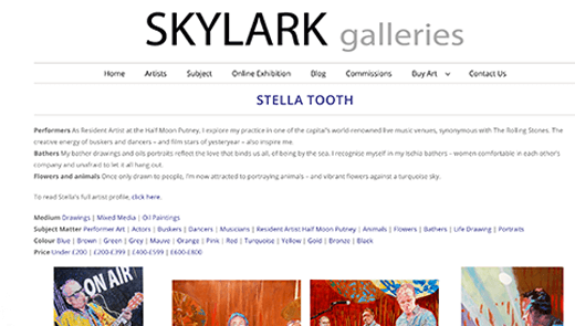 Skylark Galleries reopens on the South Bank - and takes flight online!
