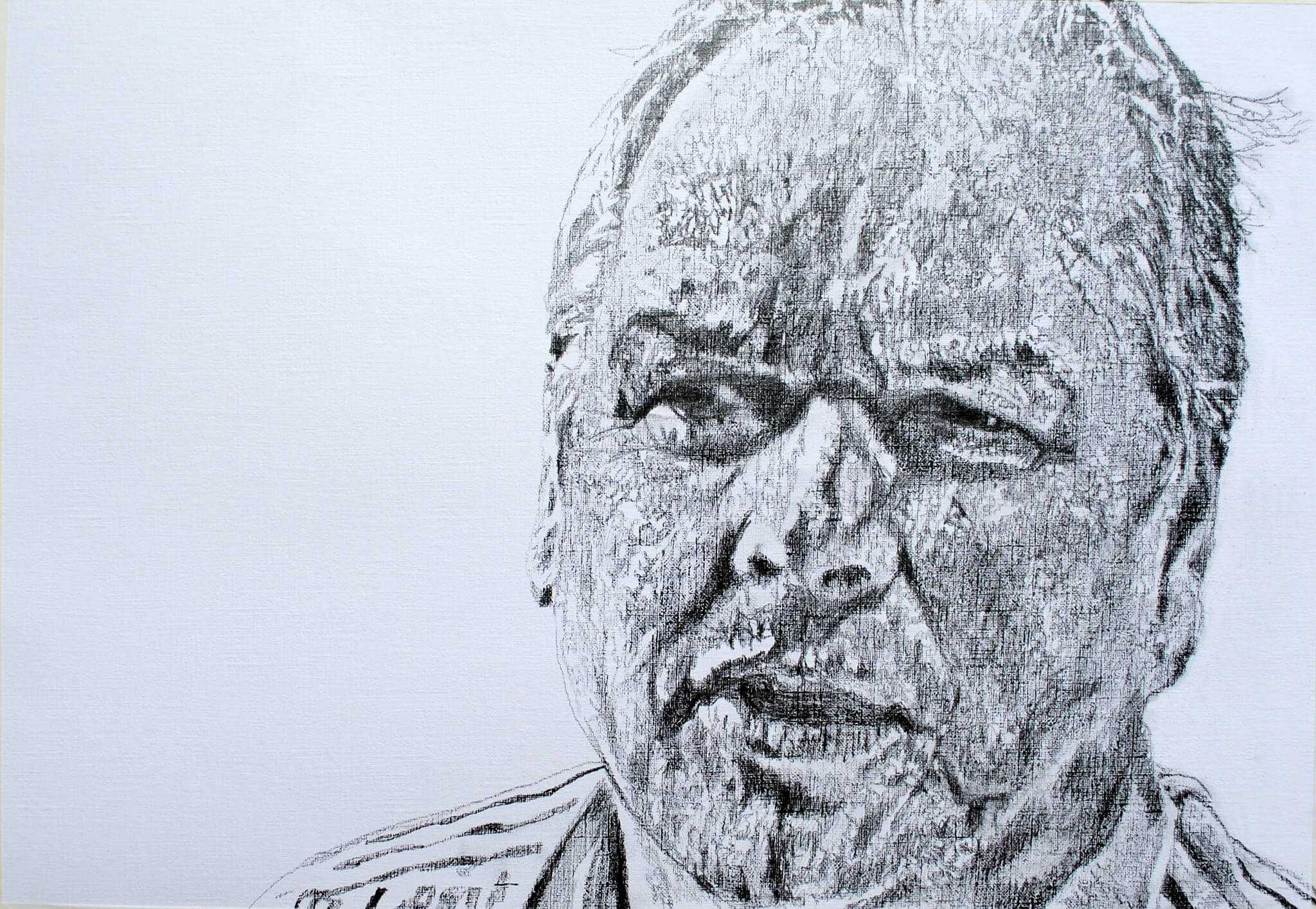 Sky News Editor at Large Adam Boulton pencil on paper portrait artwork by Stella Tooth.