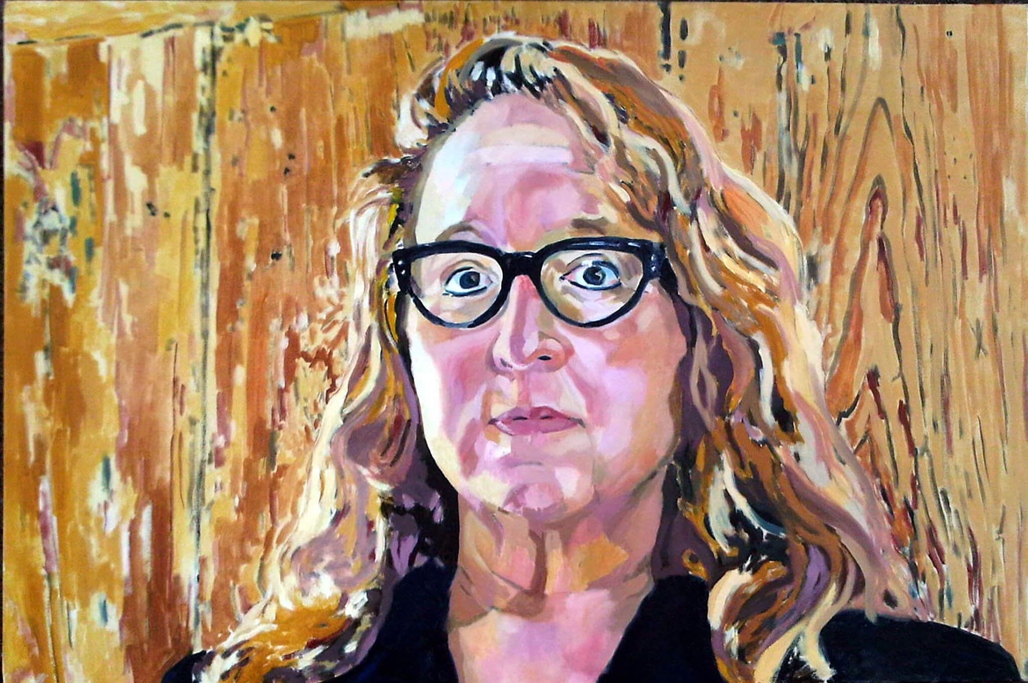 Amy Selwyn commissioned portrait in oils artwork by Stella Tooth.