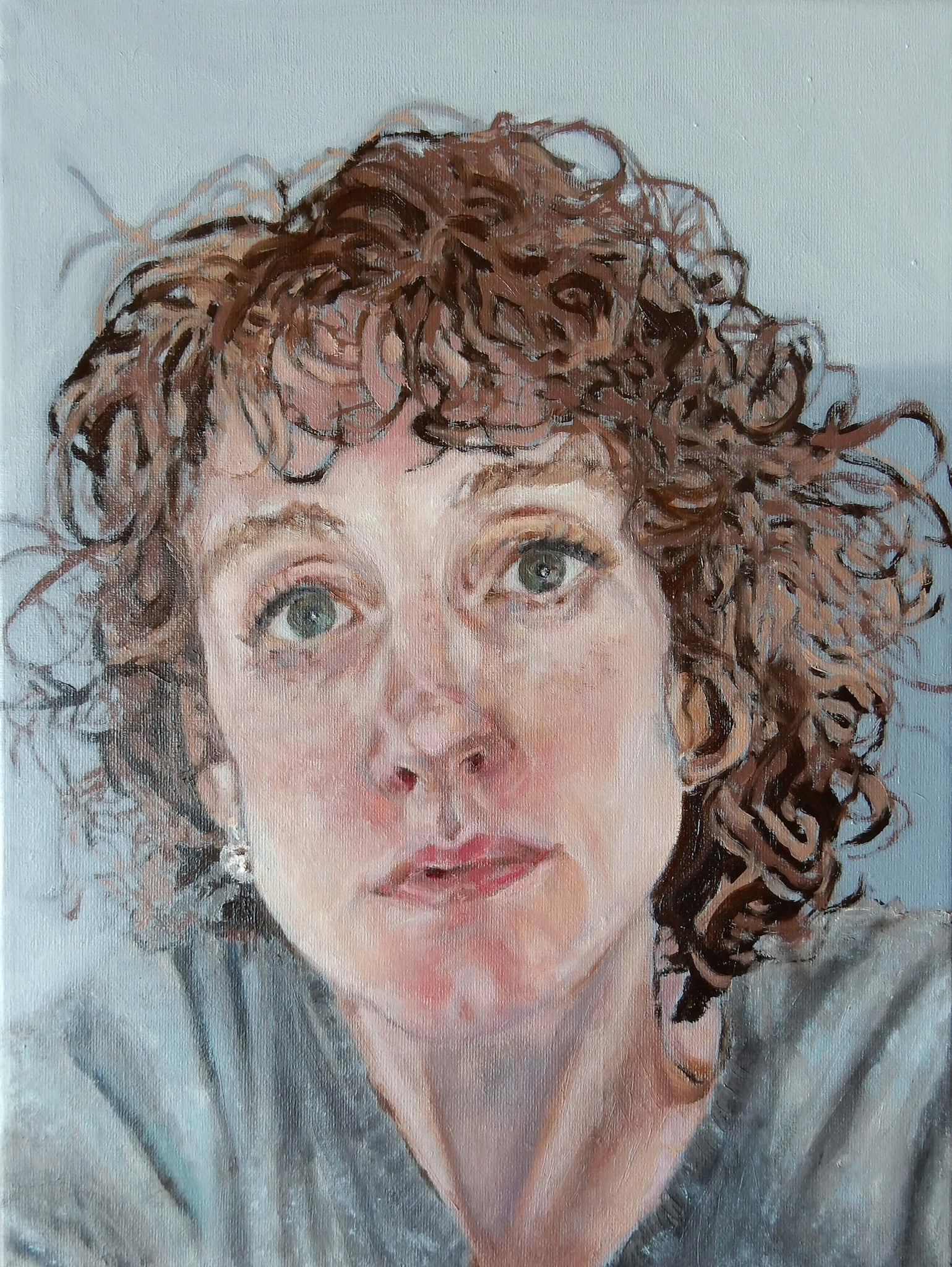 Portrait of Anne oil on canvas artwork by Stella Tooth