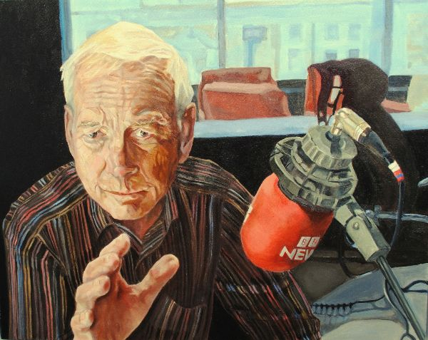 John Humphrys ex Presenter BBC R4 Today by Stella Tooth Oil on canvas NFS