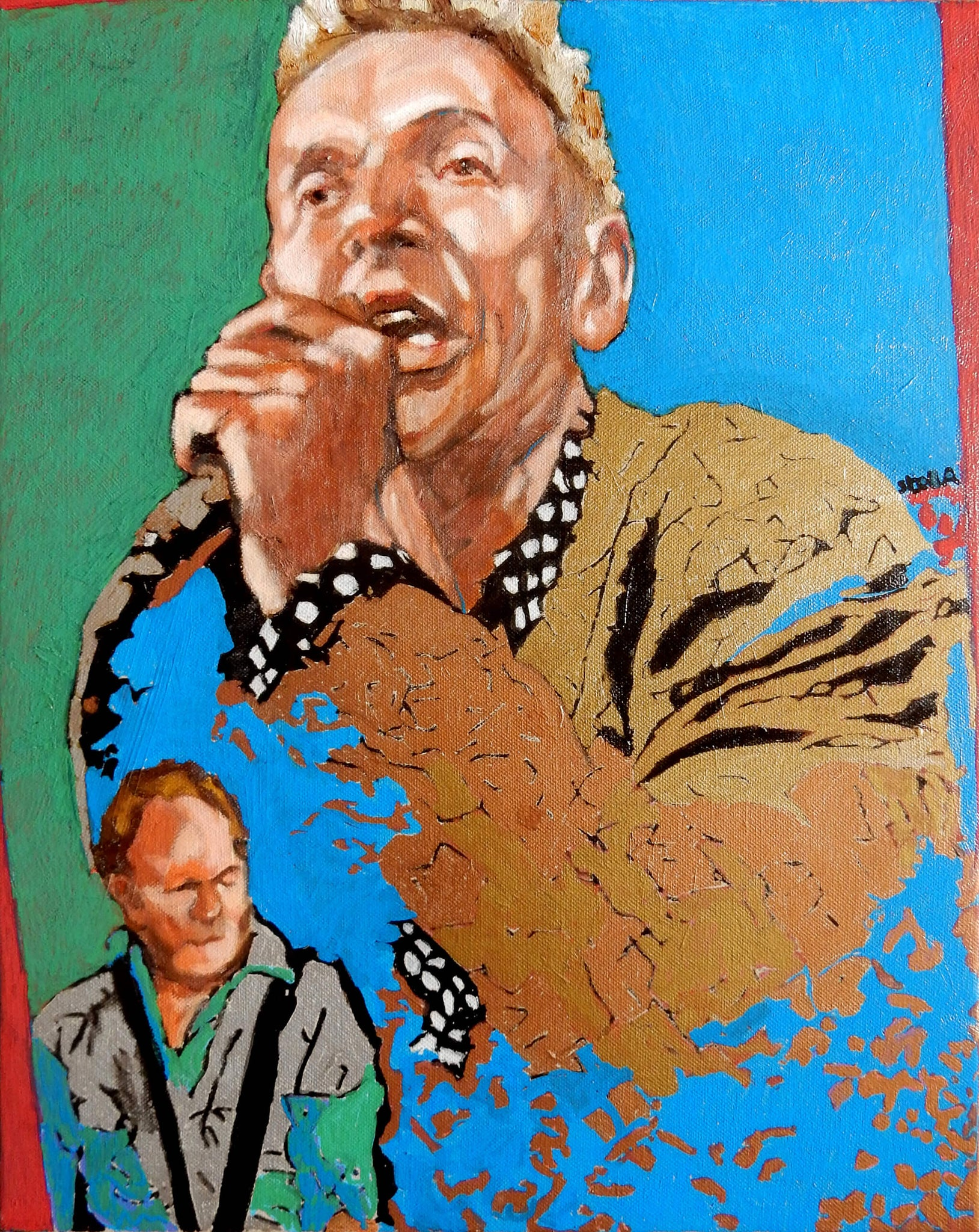 Robert Kane Dr Feelgood acrylics on canvas portrait artwork by Stella Tooth.