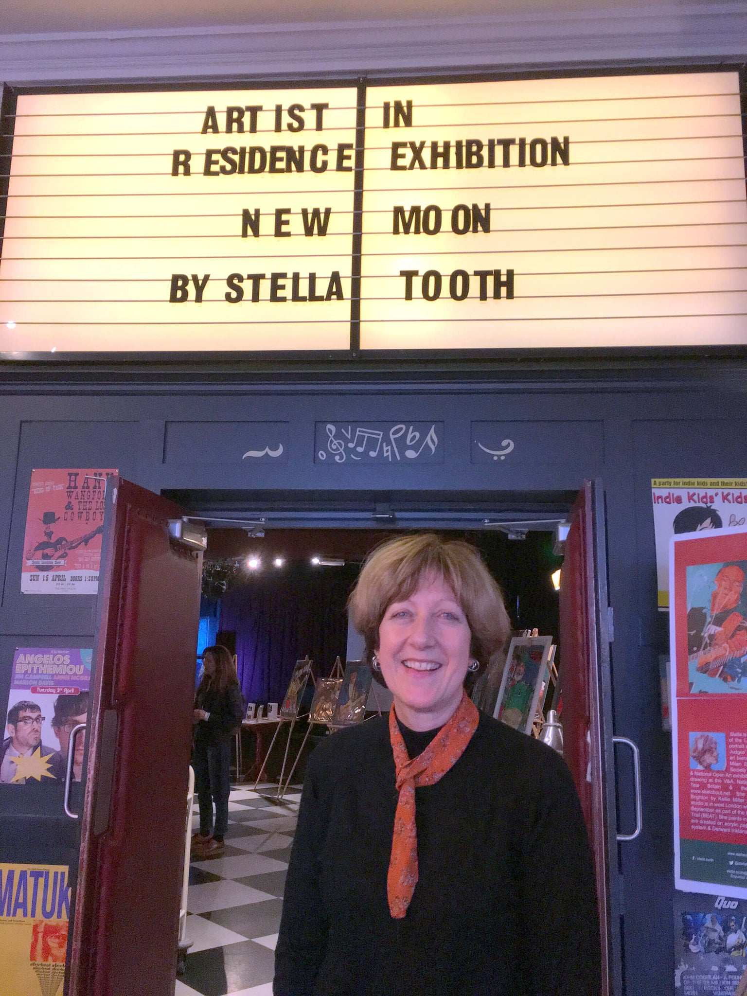 Stella Tooth resident artist Half Moon Putney's first exhibition at the music venue.