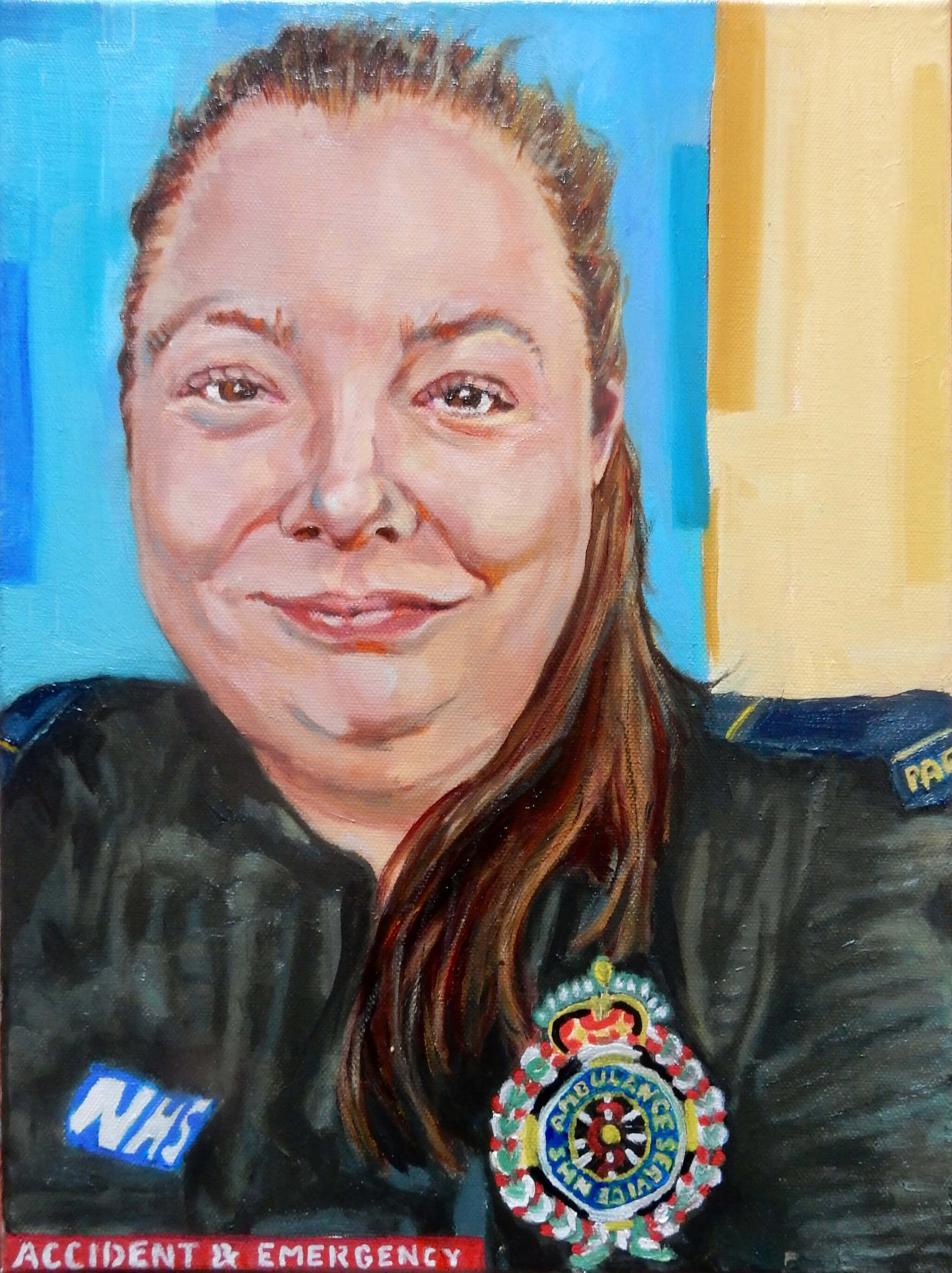 Portrait of NHS Paramedic Helen Chiverton by Stella Tooth