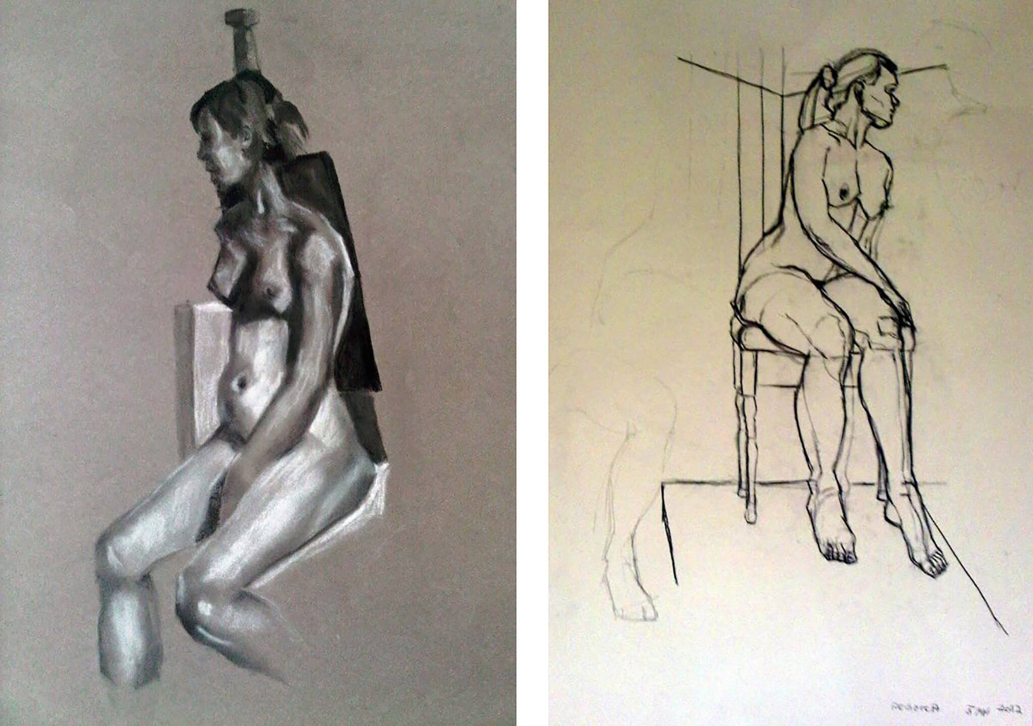 Life Drawing by Stella Tooth