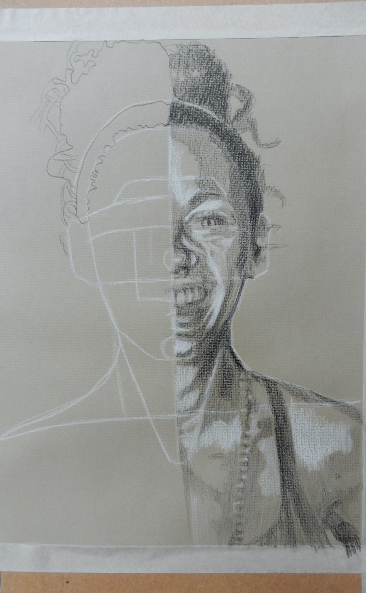 Drawing portraits from life for Open Ealing by tutor Stella Tooth