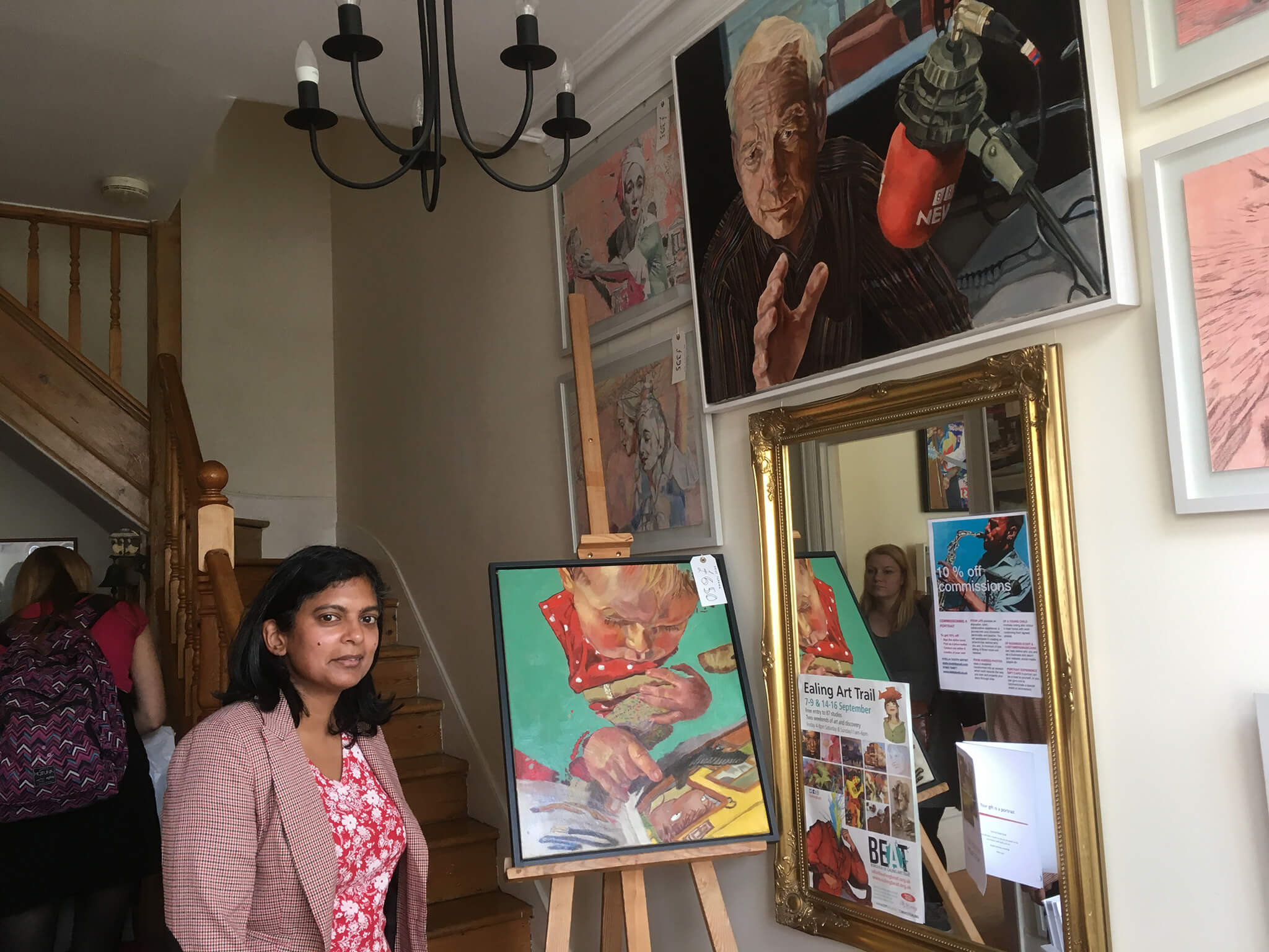 Ealing MP Rupa Huq visits Stella Tooth's open studio for BEAT Borough of Ealing Art Trail 2018.