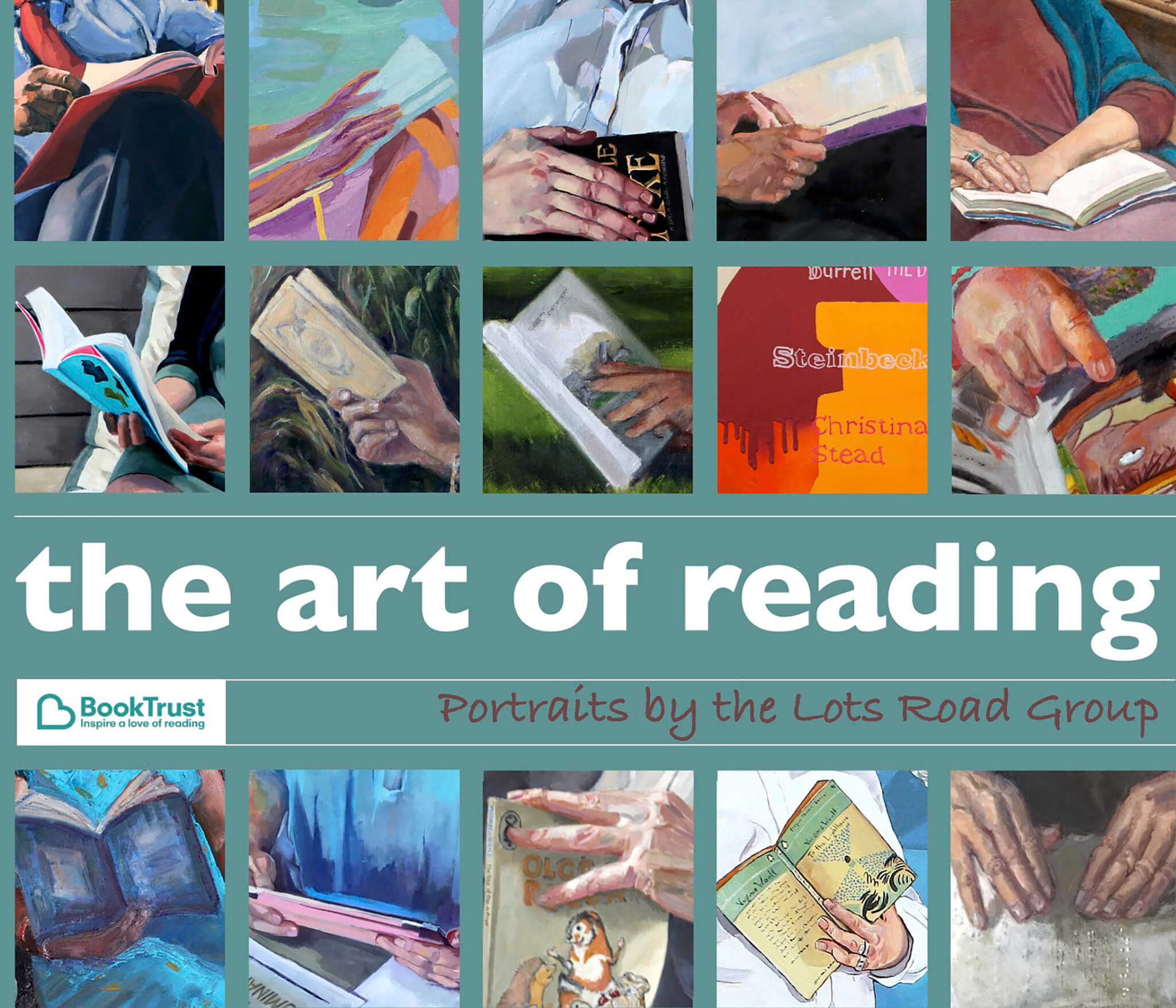 The Lots Road Group The Art of Reading exhibition catalogue cover.