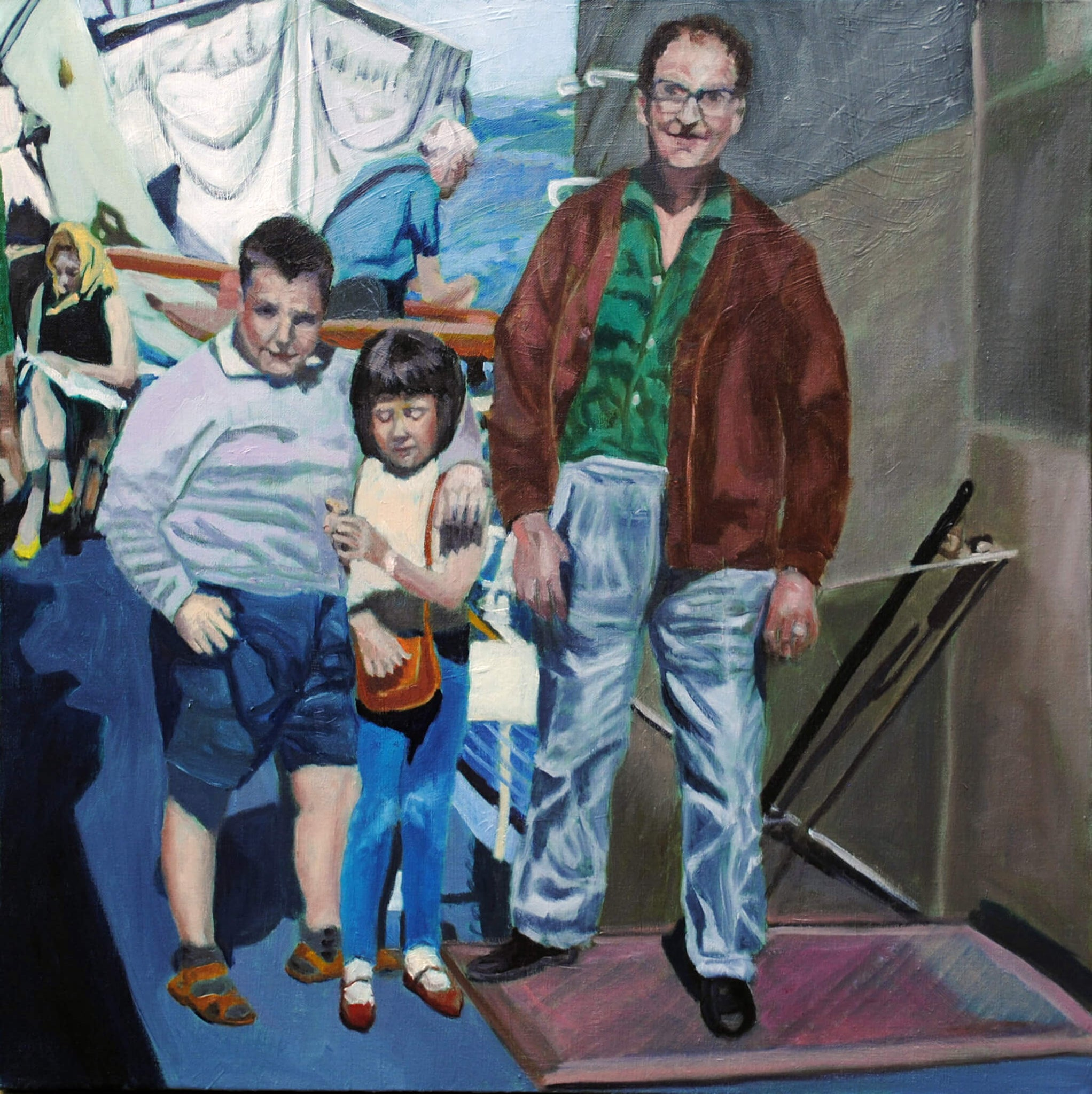 The crossing oil on canvas portrait artwork by Stella Tooth