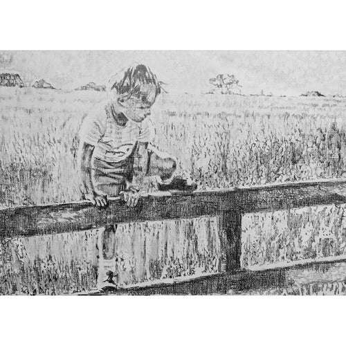 A Shropshire Lad Pencil on Paper Artwork by Stella Tooth