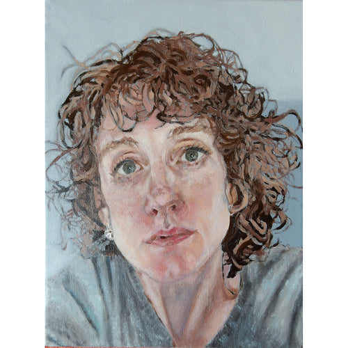 Anne oil on canvas portrait commission by Stella Tooth.