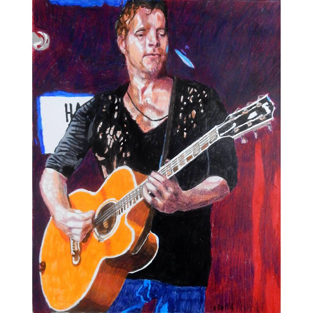 Arno Carstens at the Half Moon Putney Original Artwork by Stella Tooth