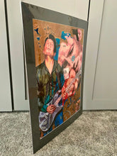 Load image into Gallery viewer, Aynsley Lister at the Half Moon Putney original mixed media artwork by Stella Tooth Side