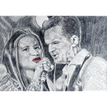 Load image into Gallery viewer, CASH and Carter at the Half Moon Putney Original Drawing by Stella Tooth