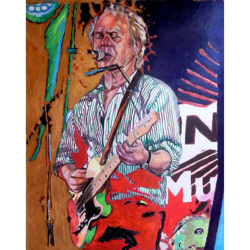 Chris Jagger at The Brentham Club by Stella Tooth Mixed Media Art