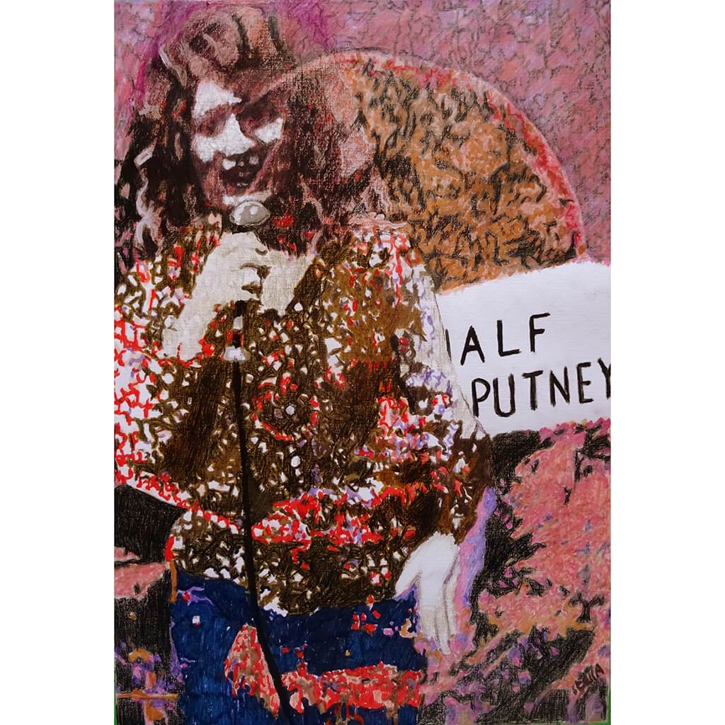 Comedian Shappi Khorsandi Half Moon Putney by Stella Tooth Mixed Media