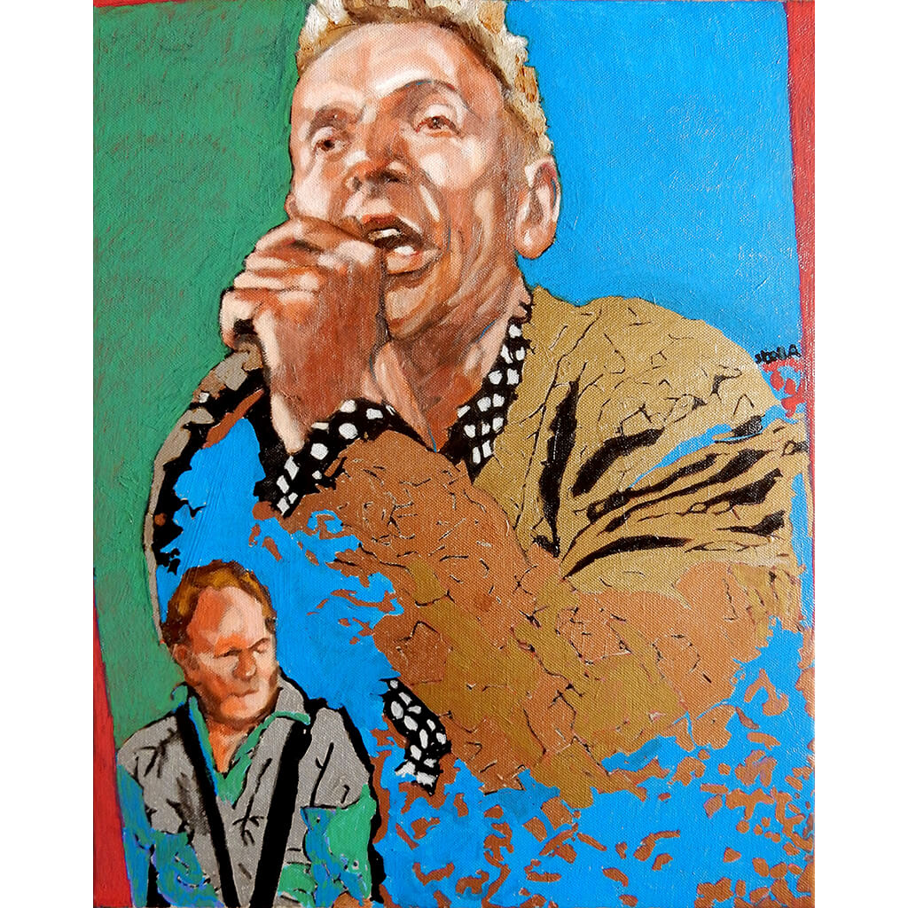 Dr Feelgood's Robert Kane acrylic on canvas artwork by Stella Tooth
